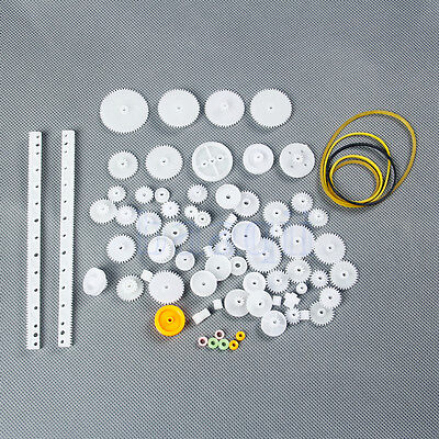 75pcs Plastic Shaft Single Double Reduction Crown Worm Gears DIY For Robot MA