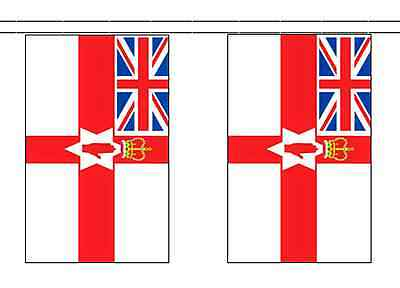 Northern Ireland Loyalist Polyester Flag Bunting - 10m with 28 Flags