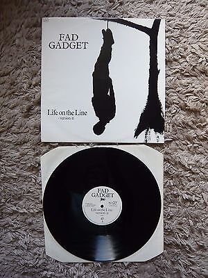 "Fad Gadget Life On The Line Version II Mute 024 '82 12"" Vinyl Single Frank Tovey"