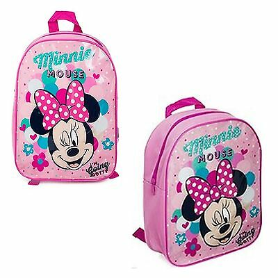 Disney Minnie Mouse Junior Back Pack I'm Going Dotty Pink Ruck Sack School Bag