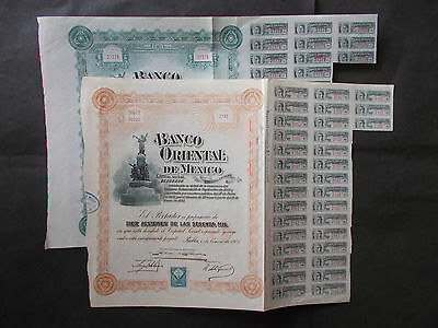 Mexico: 2X Banco Oriental - 1900 + 1905 - Not Cancelled
