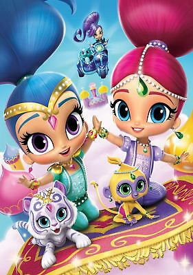 Shimmer and Shine Childrens TV show nickelodeon colour poster A2, A1, A0 sizes