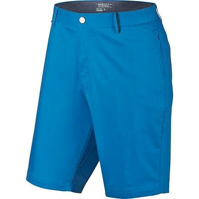 "Men's NIKE GOLF 10"" Modern-Fit Washed Shorts - Size 32"" / Medium - Photo Blue"