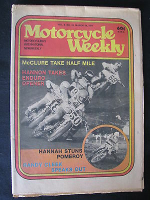 Magazine Motorcycle Weekly Vol. 9 No. 10 March 19 1977 (Engels)