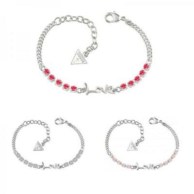 Bracciale Donna GUESS Acciaio Inossidabile Swarovski Love Joy Passion Pietre