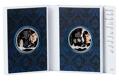 2016 Niue $2 1 oz. Colorized Proof Silver Sherlock Holmes Set-2 OGP SKU43195