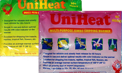 Uniheat heat pack fish transport shipping reptile warmer 30h 60h 30 60 hours hrs