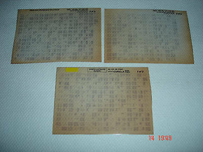 Toyota Corolla Ae, Ce, Ee (10#) Parts Microfiche Full Set Of 3 - Sept.1992