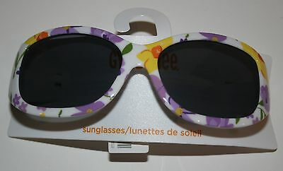 New Gymboree Daffodil Garden Sunglasses White with Flowers Size 2-4 Years NWT