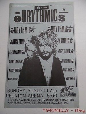 1986 EURYTHMICS Revenge Tour Concert Poster Reunion Arena Dallas Texas ORIGINAL