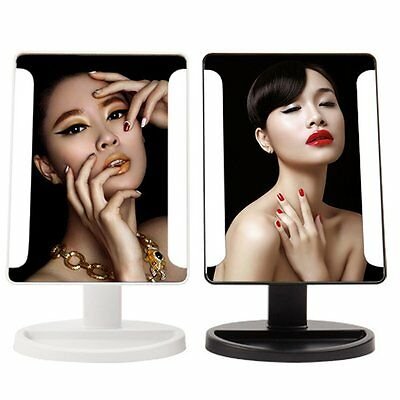 Magnifier LED Touch Screen Makeup Mirror Lighted Make-up Cosmetic Mirror