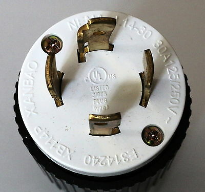 NEMA-L14-30 UL Listed Locking Generator Plug 30A 125/250V (L14-30P)