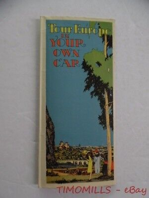 1927 International Merchant Marine Tour Europe In Your Own Car Map Brochure IMM