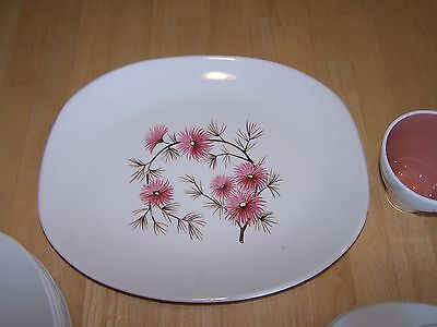 Edwin Knowles CORAL PINE Platter Rectangular 14 in Pink