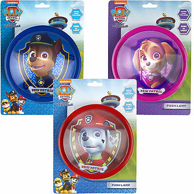 Paw Patrol Night Light Girls & Boys Childrens Bedroom Kids Push Touch Lamp 16cm