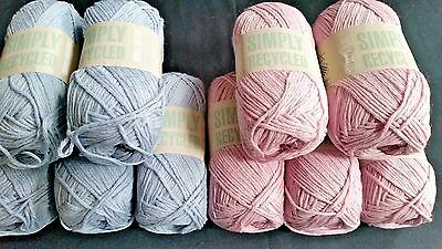10 Balls Sirdar Simply Recycled Cotton Knitting Wool Yarn lot 41