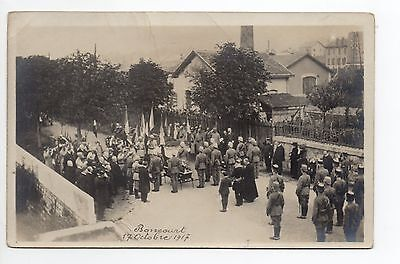 SUISSE SWITZERLAND Canton du JURA BONCOURT carte photo octobre 1917 militaire 2