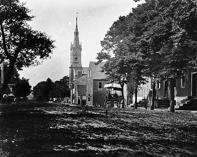 New 8x10 Civil War Photo: 1862 View in Yorktown of Church and Hospital
