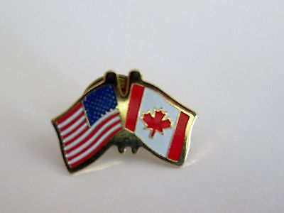 United States/Canada Flag Lapel/Hat Pin