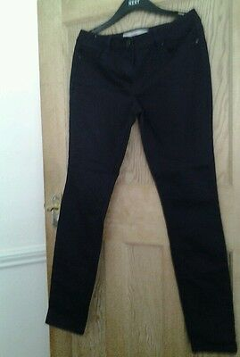 Women's Next Sheen Black Jeans Super Skinny Size 12L • £3.99 ...