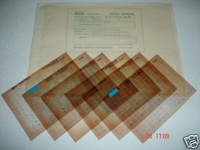 Toyota Cressida Parts Microfiche Full Set Of 6 - Dated February 1984