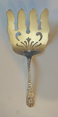 """Stieff Solid Sterling Silver Repousse Asparagus Fork """"Stieff Rose"""" Pattern"""