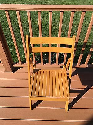 Vintage wooden slat seat and back folding chair