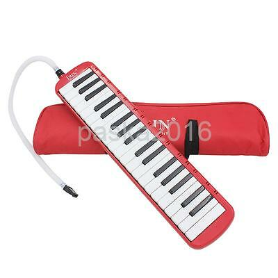 37 Key Melodica Musical Instrument With Carry Bag Music Learners Gifts Red