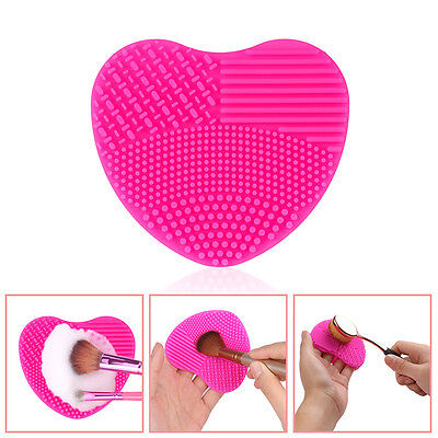 Silicone Makeup Washing Brush Cleaning Glove Heart-shaped Scrubber Tool Cleaner