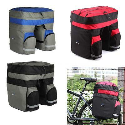 ROSWHEEL 60L Bicycle Double Side Rear Rack Tail Seat Trunk Bag Pannier New D5T6