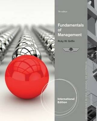 Fundamentals of Management by Ricky Griffin Paperback Book