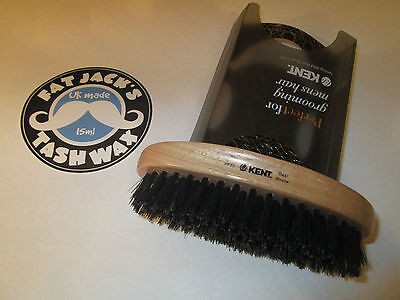 Kent PF22 S  Oval Military Brush Natural Bristle Hair Beard SPECIAL SOFT VERSION