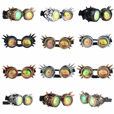 Eye CYBER GOGGLES GOTH STEAMPUNK COSPLAY ANTIQUE VICTORIAN WITH SPIKES UK #LWJ