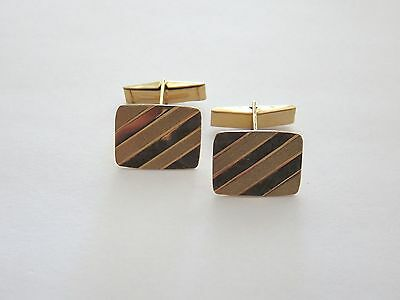 Vintage 3 Tone Gold Coloured Cufflinks