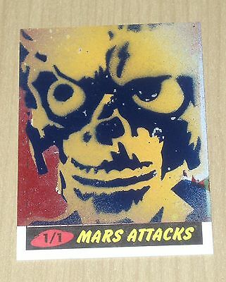 2012 Topps Heritage MARS ATTACKS sketch card Jason Adams 1/1