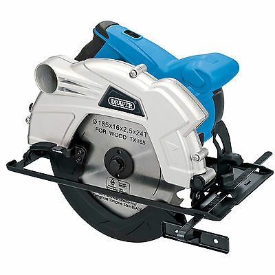 "Draper 1300"" 230V 185MM Circular Saw With Laser Guide Woodwork DIY Cutting Tool"
