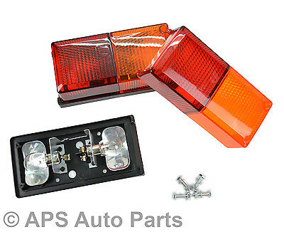 A Pair Of Rear Rectangle 4 Function Tail Lights Light Lamp Trailer Lorry Van New