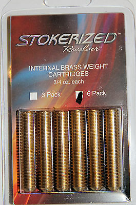 STOKERIZED ARCHERY Brass Weights 6Pk. for revolver series stabilizers