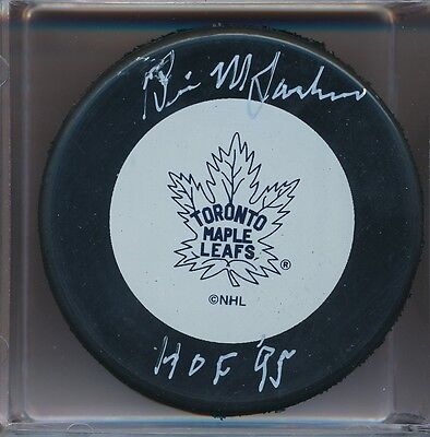 AUTOGRAPHED BRIAN McFARLANE TORONTO MAPLE LEAFS PUCK