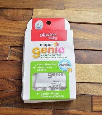 "Playtex Baby Genie Carbon Filter Refill, 4 Pack ""New Open"""