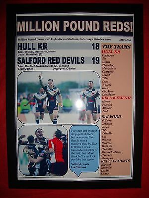 Hull KR 18 Salford Red Devils 19 - 2016 Million Pound Game - framed print