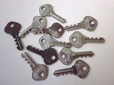 Antique Sears Keys  For Locks  Motors  etc. Lot of 11  VINTAGE