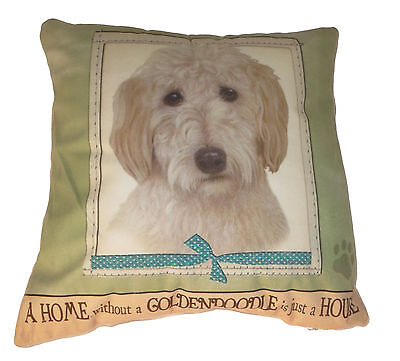 Goldendoodle Throw Pillow A Home Without is Just a House Dog New Green Soft