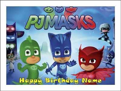 Pj Mask A4 Real Edible Icing Image Birthday Cake Topper