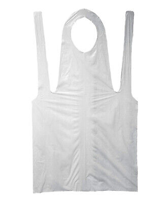 "Shield Safety - Economy Disposable Poly Apron, 2 Mil White 28"" x 46"" Pack of 100"