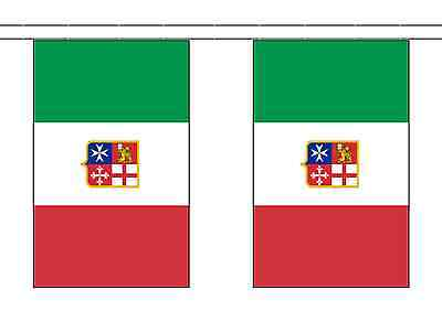 Italy Civil Ensign Polyester Flag Bunting - 5m with 14 Flags