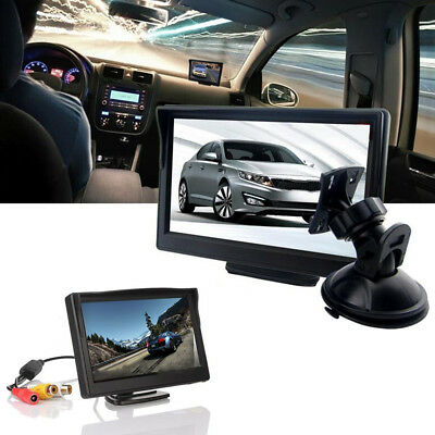 """New 5"""" TFT-LCD Car Rear View Rearview Monitor With Stand Reverse Backup Camera"""