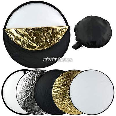 """60cm 5 in 1 Photography Studio Multi Photo Collapsible Light Reflector 24"""" N98B"""