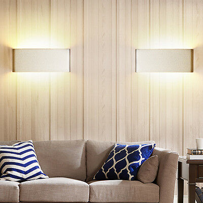 White Modern 6W Wall Light LED Sconce Lighting Lamp Indoor Outdoor Wall Fixtures