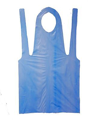 """Shield Safety Economy Disposable Poly Apron 2 Mil 28"""" x 46"""" Blue Package of 100"""